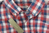 J. Crew Men's Red, White, Blue Plaid Checkered Button Up NWT  | S