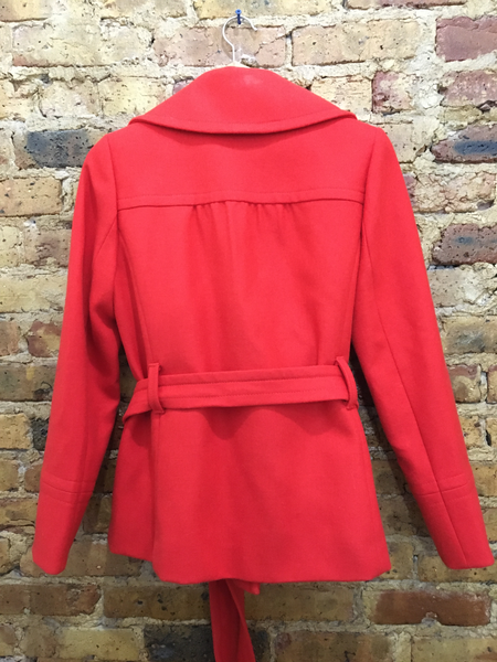J. Crew Timeless Red Peacoat