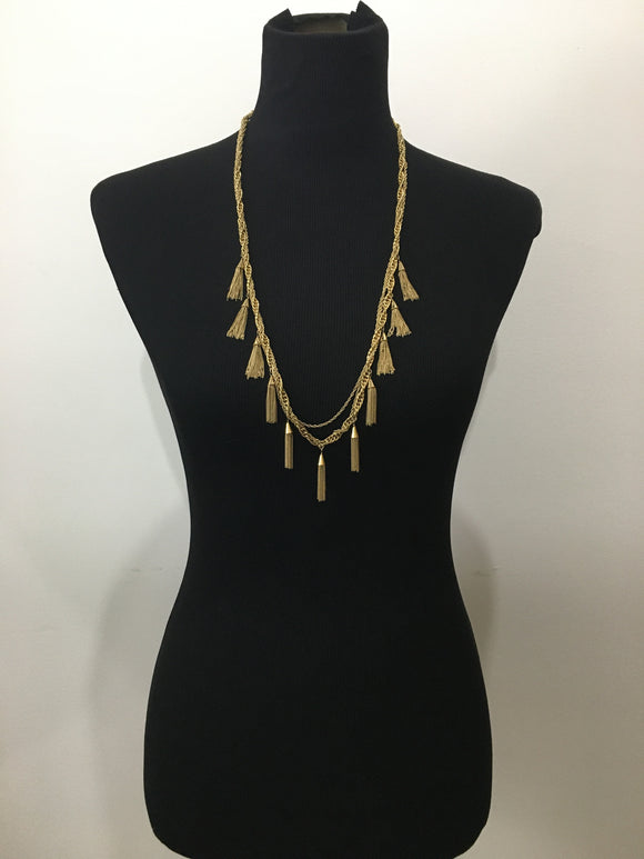 Tassel Necklace Statement Piece