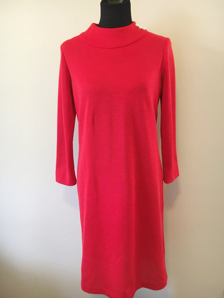 Vintage, Classic Red Dress | Small, Medium