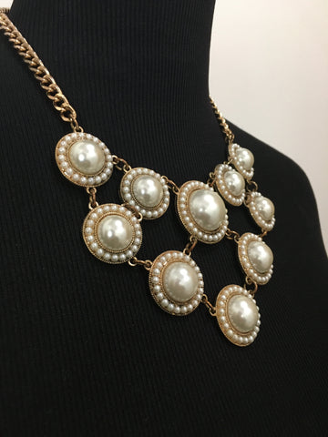 Mika Pearl Filled Necklace