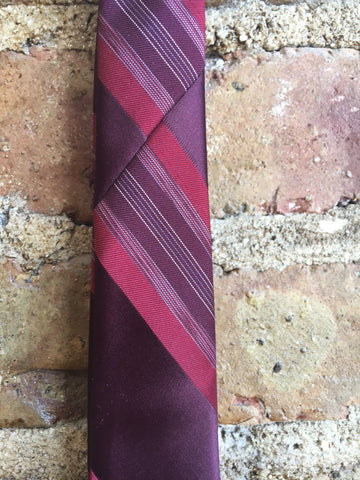 Givenchy XL Purple and Red Silk Tie