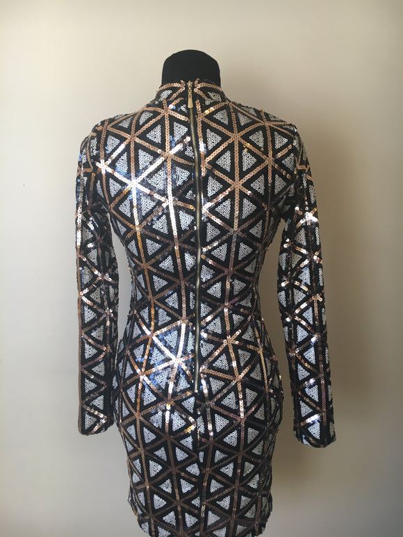 Lulus Geometric Sequin Dress