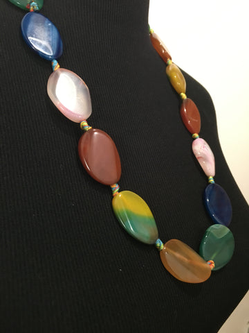 Glass Colored Statement Necklace