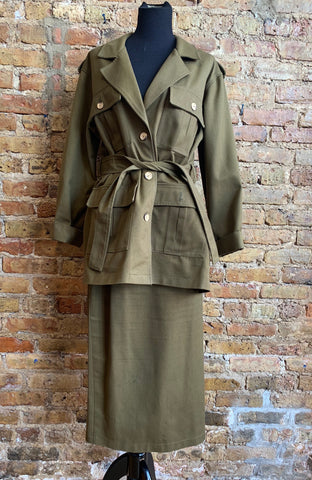 Two Piece Vintage Skirt Suit