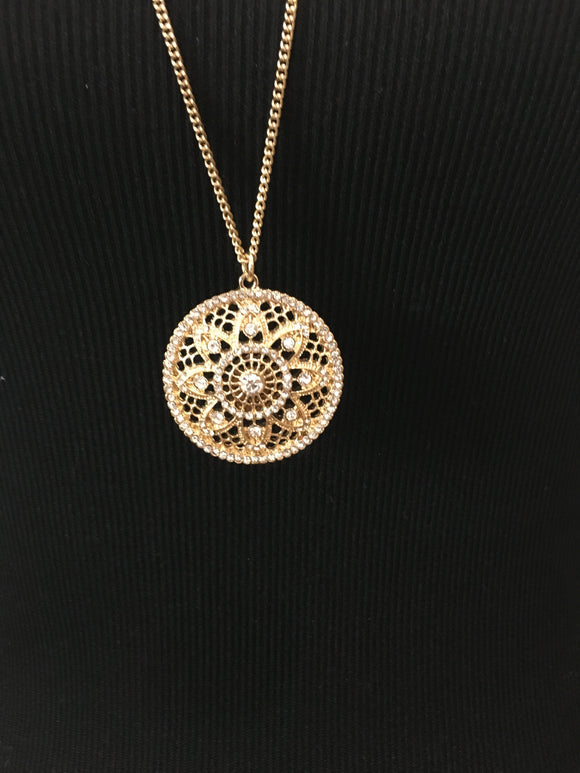 Mandala Inspired Statement Necklace