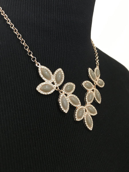 Leaf Inspired Statement Necklace