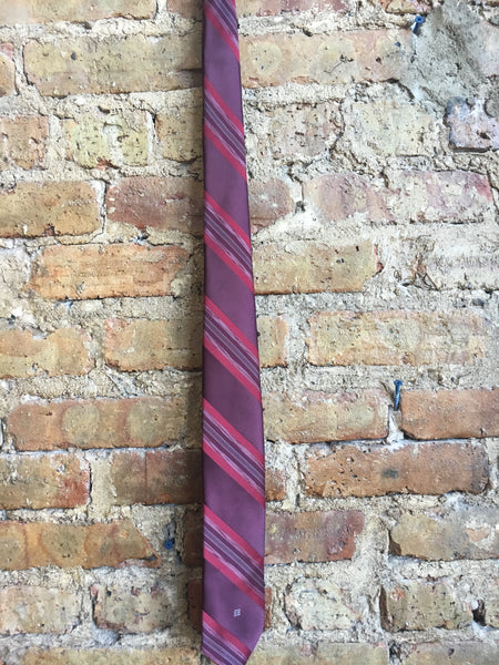 Givenchy Purple and Red Silk Tie