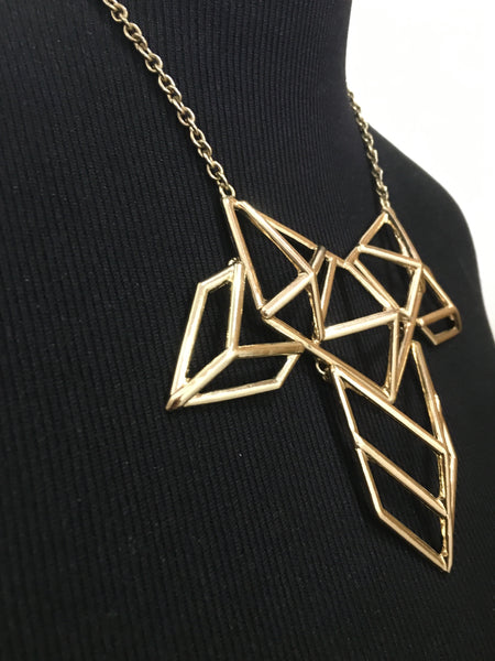 Geometric Short Chain Statement Necklace
