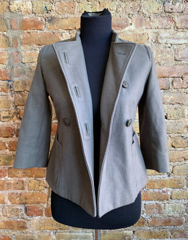 Troy Smith for D. Military-Style Vintage Jacket Green Gray Sz. XS