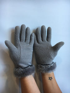 Heather Gray Gloves (Med)