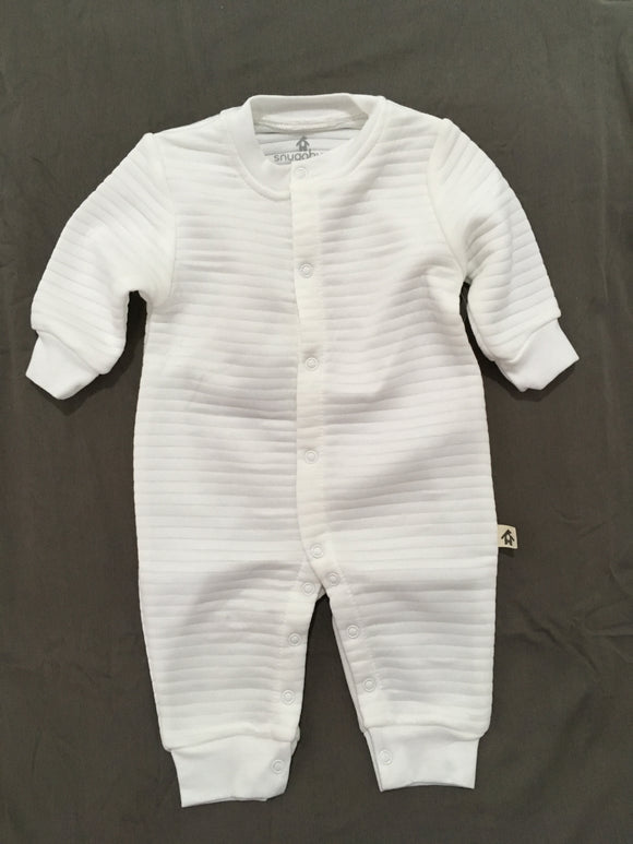 Snugabye white one-piece 3-6M