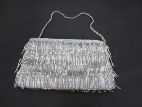 Beaded Dangling Fringe Indeed Purse Clutch