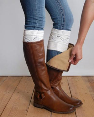 Mid tall brown Combats Boots