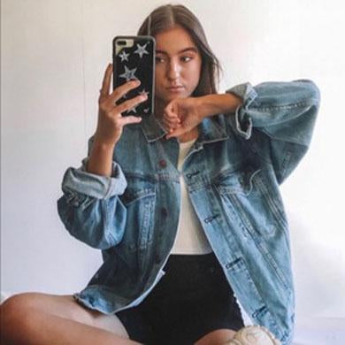 FELECIA loose denim jacket