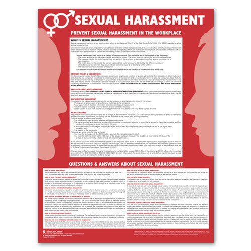Sexual harassment poster for printing