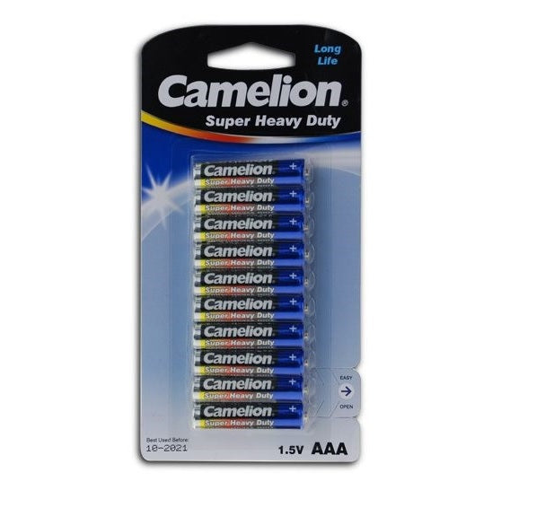 CAMELION SUPER HEAVY DUTY BATTERIES AAA