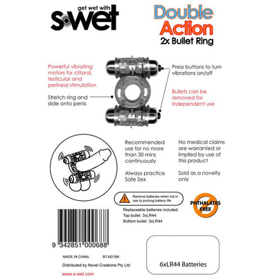 SWET DOUBLE ACTION 2 BULLET RING