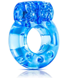 STAY HARD DISPOSABLE VIBRATING COCK RING BLUE