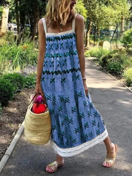 Plus siza sleeveless Boho Beach Dresses