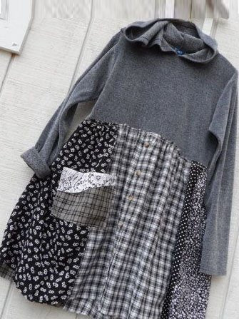 Gray Cotton-Blend Checkered/plaid Long Sleeve Dresses