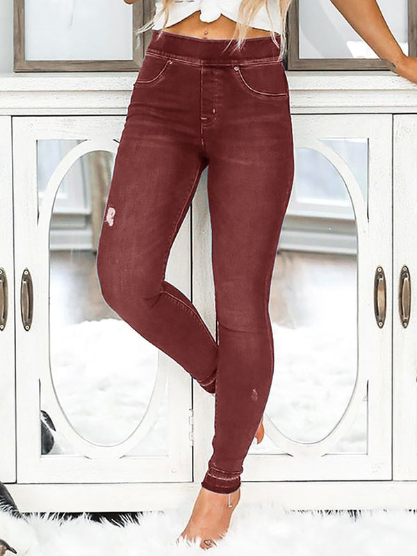 Big Stretchy Plus Size Jeans Denim Pants Slim Leggings