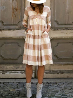Casual striped loose vintage dress