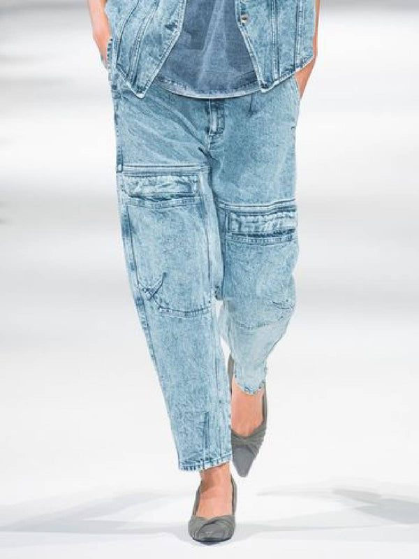 Casual Denim Pockets Pants