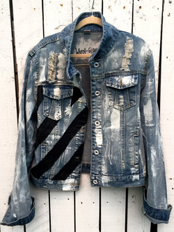 Blue Casual Denim Outerwear