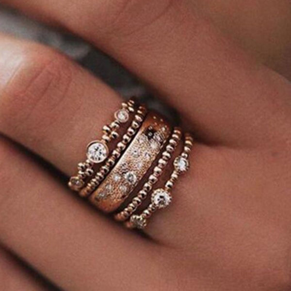 Rose Gold Vintage Alloy Rings