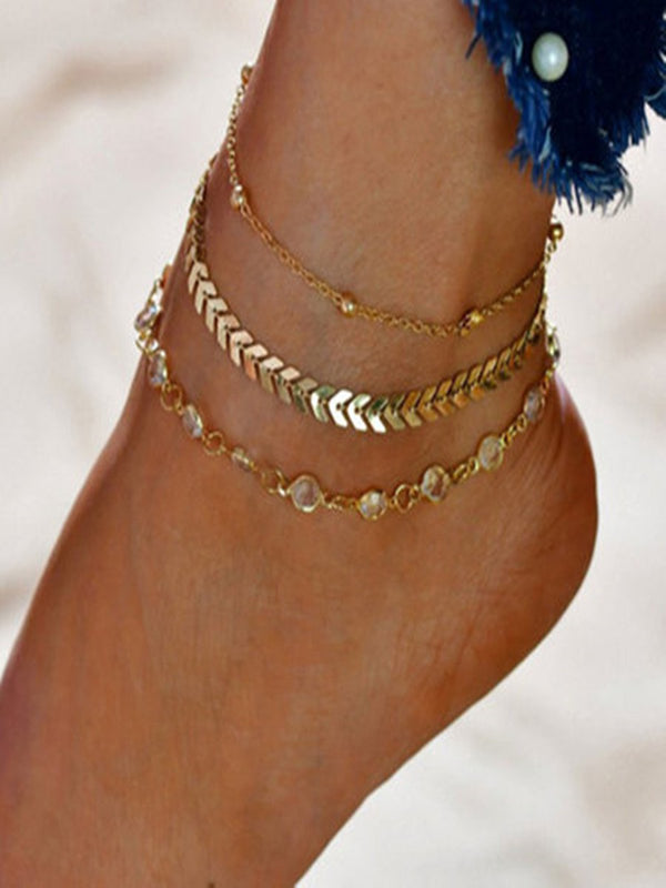 Golden Vintage Alloy Anklets