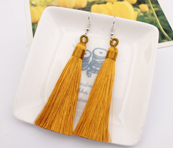 Bohemian Long Multicolor Tassel Earrings