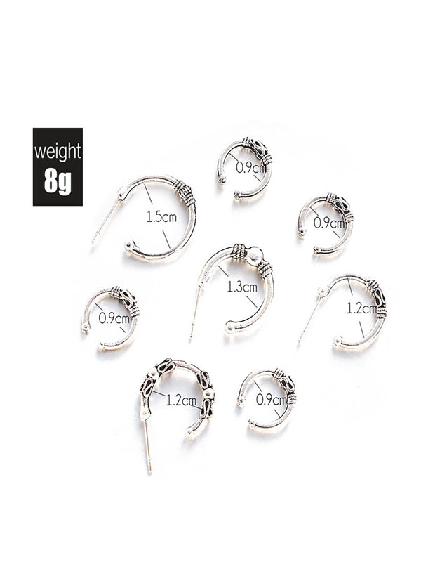 Womens One Set Alloy Round Earrings