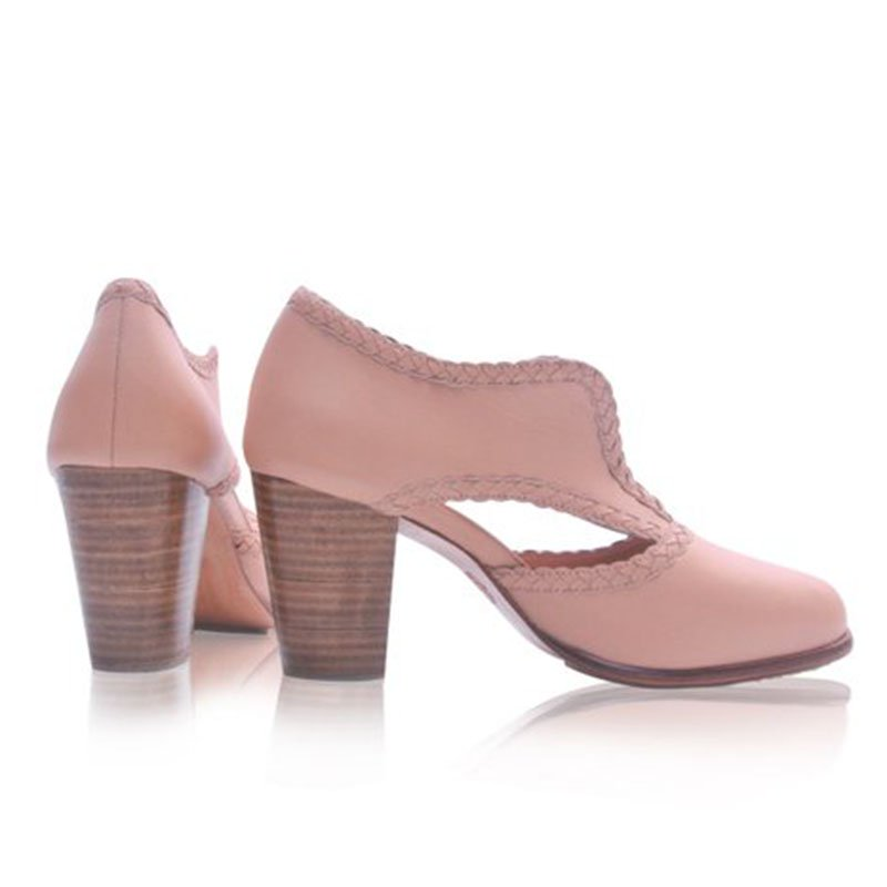 Cutout Low Heel Oxford Shoes Women Daily Loafers