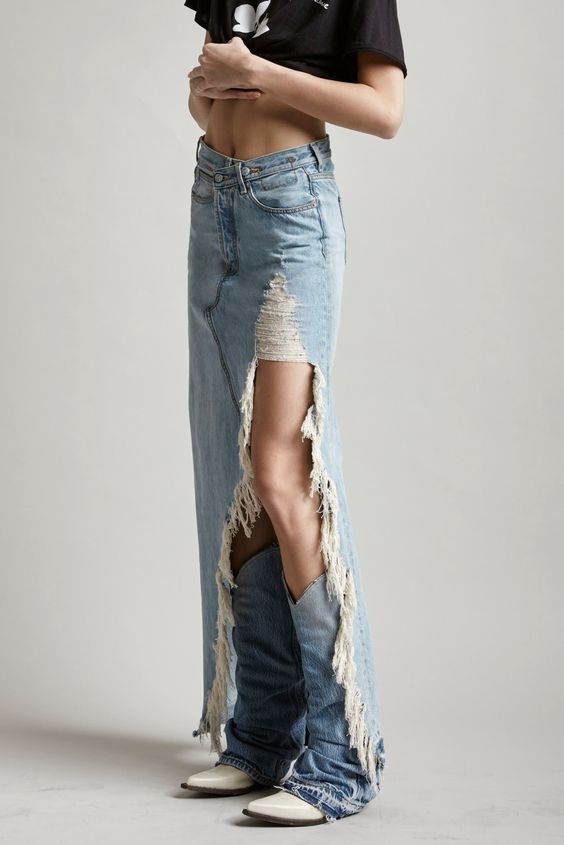 Light Blue Outdoor Washed Pants