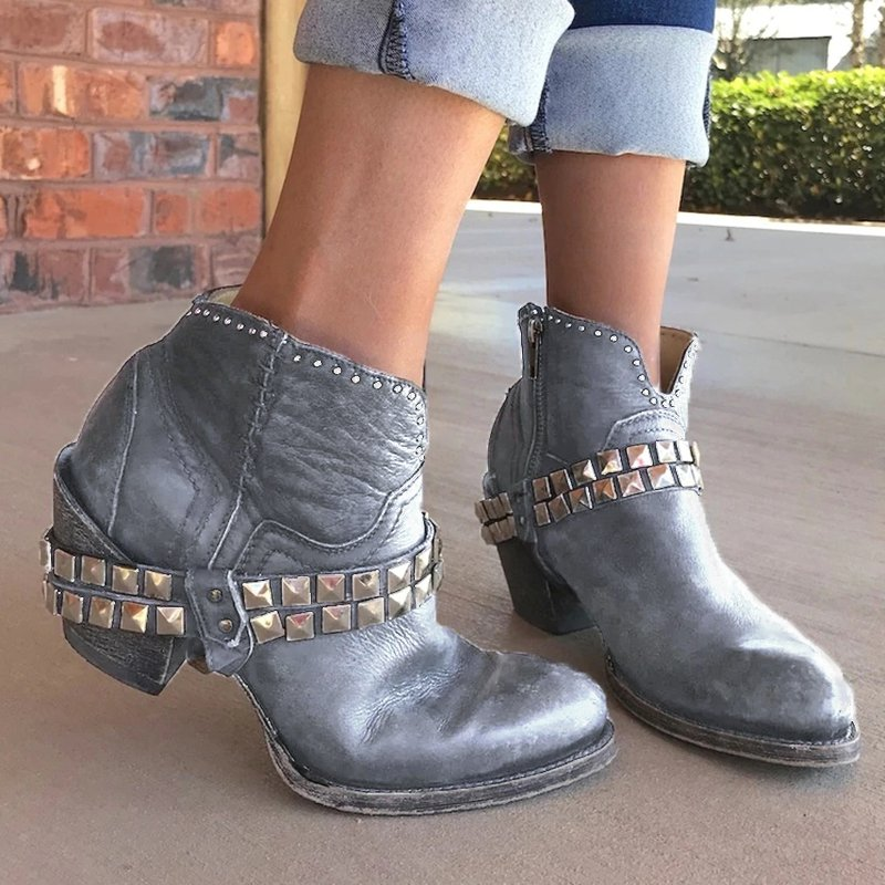 Pu All Season Chunky Heel Boots