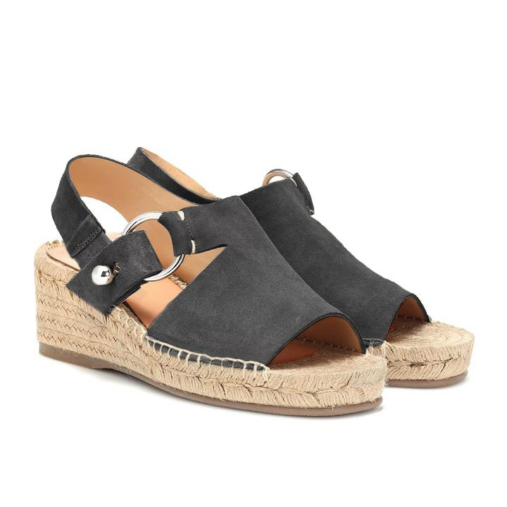 Women Arc Suede Espadrille Wedge Sandals