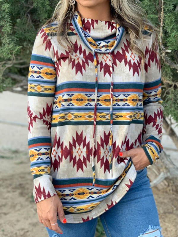 Plus size Boho Casual Cotton Hoodies