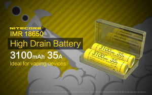 IMR18650 3100mAh 35A Spare Battery for P18 (Set of 2)