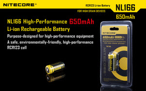 NL166 RCR123A RECHARGEABLE CR123A