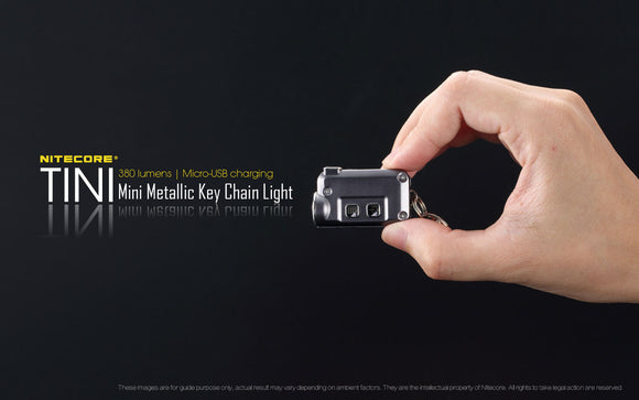 TINI 380 LUMEN MICRO RECHARGEABLE KEYCHAIN LIGHT