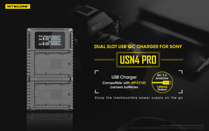 USN4 PRO SONY NP-FZ100 BATTERY CHARGER