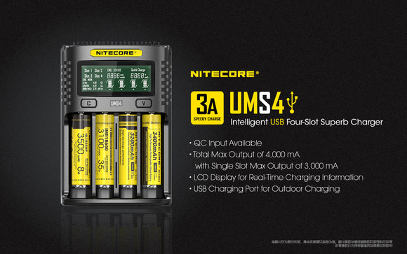 UMS4  3A 4Bay QUICK CHARGER