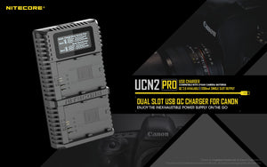 UCN2 PRO CANON LP-E6N 2 BAY BATTERY CHARGER