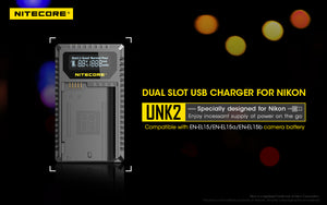 UNK2 Nikon EN-EL15 Battery Dual Charger