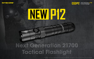 NEW P12 1200 Lumens - Bundle 21700 Battery & UI1 Charger Included