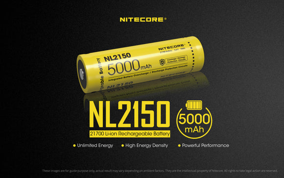 NL2150 5000mAh 21700 Battery