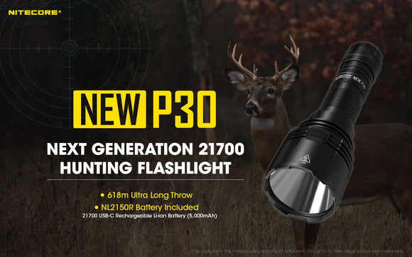 NEW P30 1000 Lumens 618Meter Throw