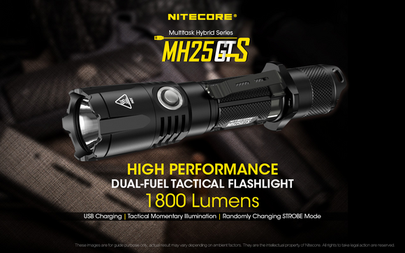 MH25GTS 1800 LUMENS (Clearance, Missing Holster)
