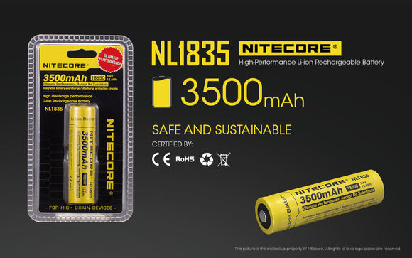 NL1835 3500mAh 18650 BATTERY